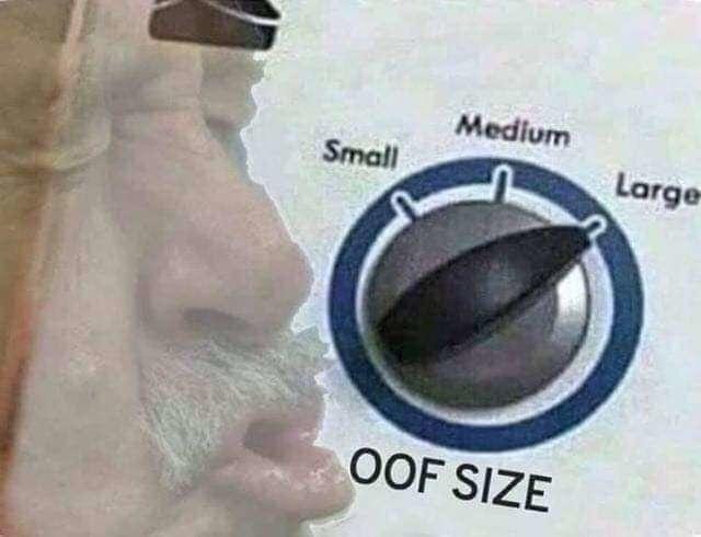 oof size large image, oof size large meme